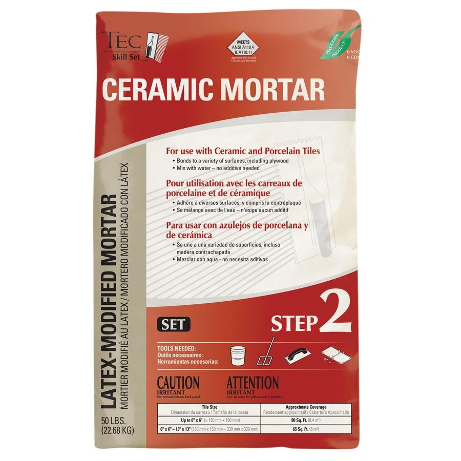 TEC Gray Powder Polymer-Modified Thinset Mortar