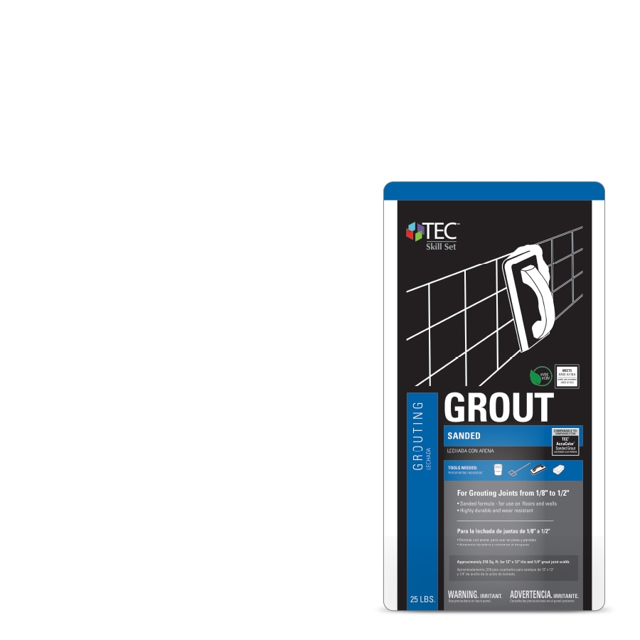 Shop grout at lowes tec skill set 25 lb cementitious sanded powder grout nvjuhfo Image collections
