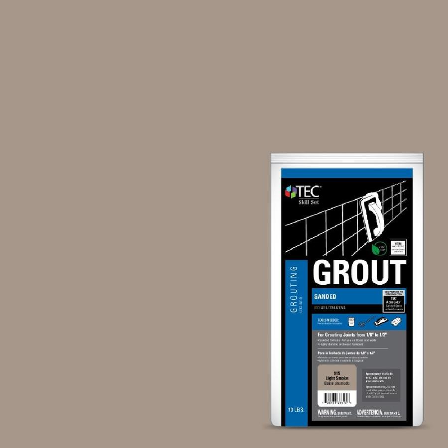 TEC Skill Set 10-lb Light Smoke Sanded Powder Grout