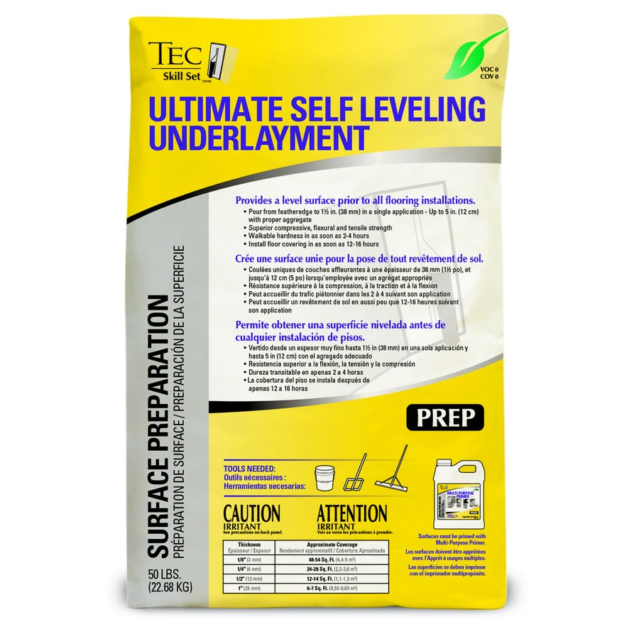 Tec Indoor Self Leveling Underlayment
