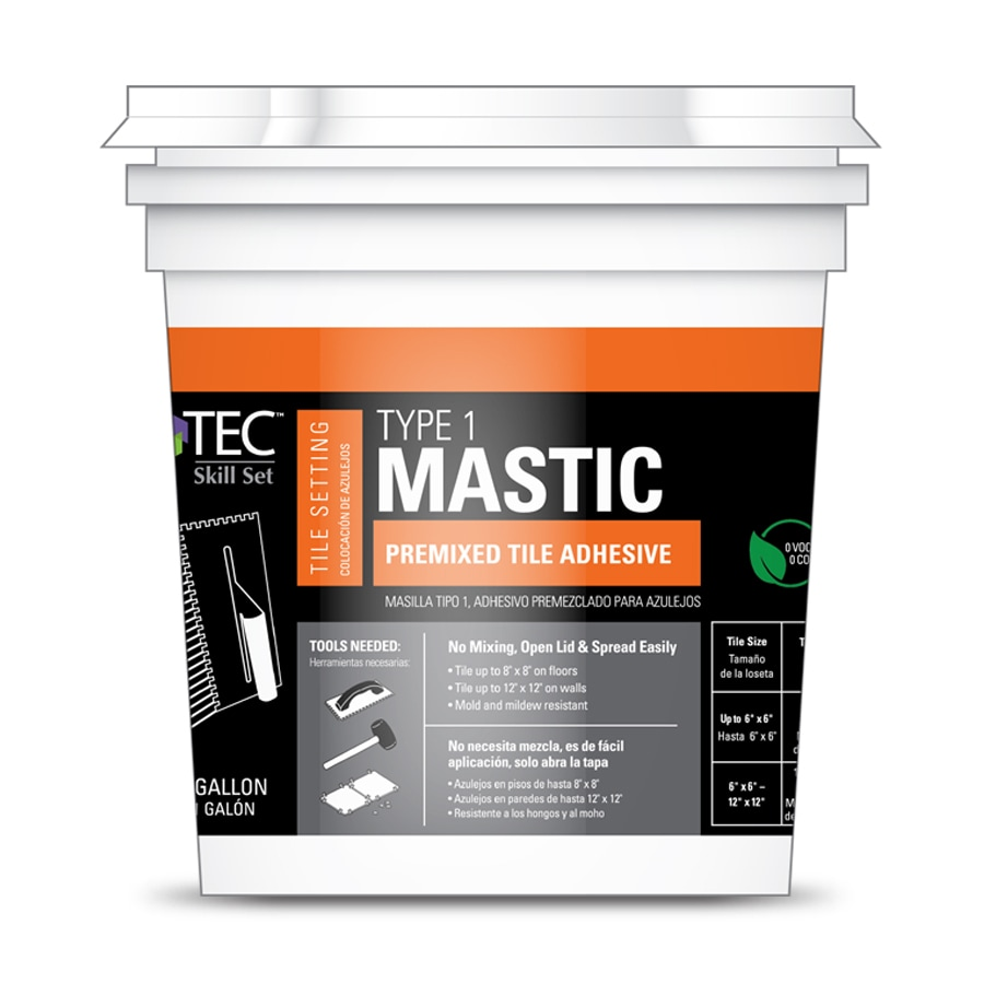 Tec Tile Mastic 1 Gallon At Lowes Com