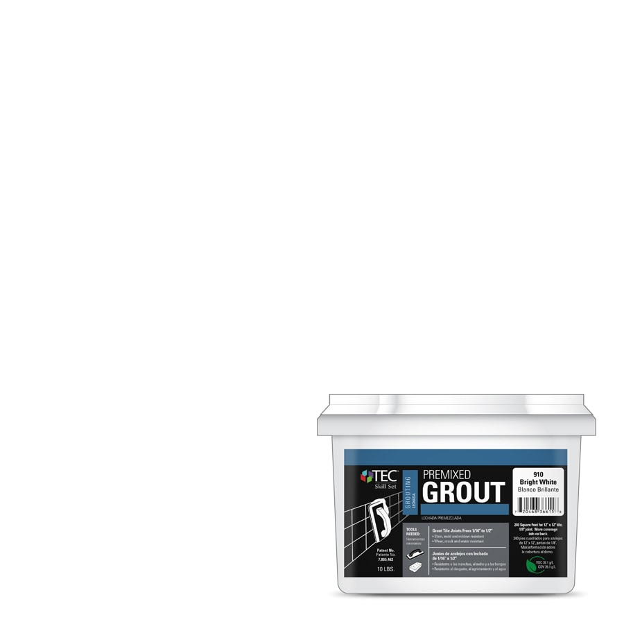 TEC Skill Set 10-lb Bright White Sanded Premixed Grout