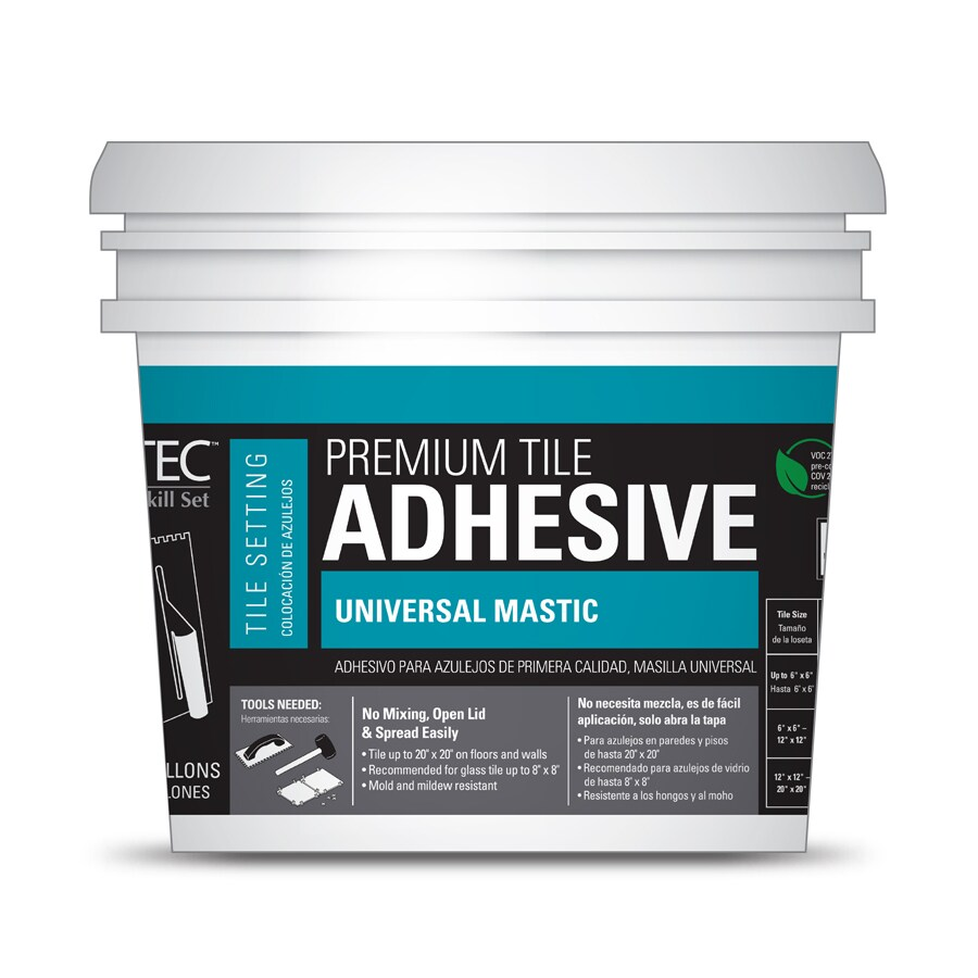 Shop flooring adhesives at lowes tec skill set premium tile mastic 35 gallon dailygadgetfo Images