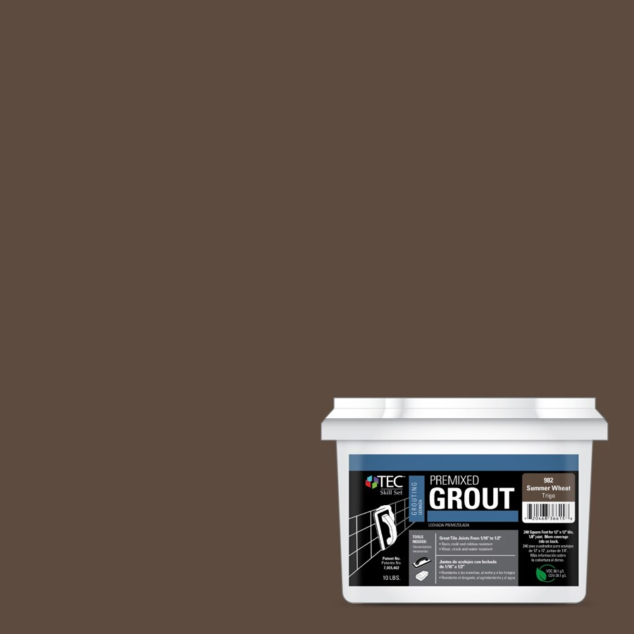 TEC Skill Set 10-lb Summer Wheat Sanded Premixed Grout