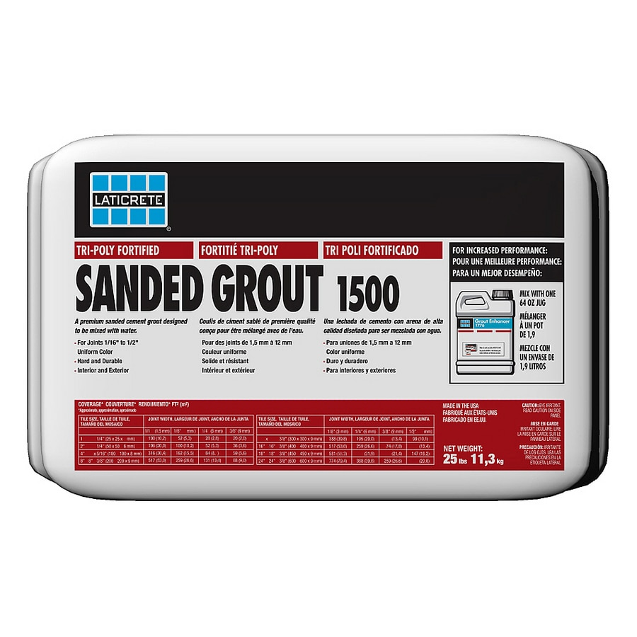 LATICRETE 25 lbs. Silver Shadow Sanded Powder Grout