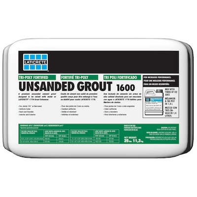 Laticrete 25 Lbs Silver Shadow Unsanded Powder Grout At