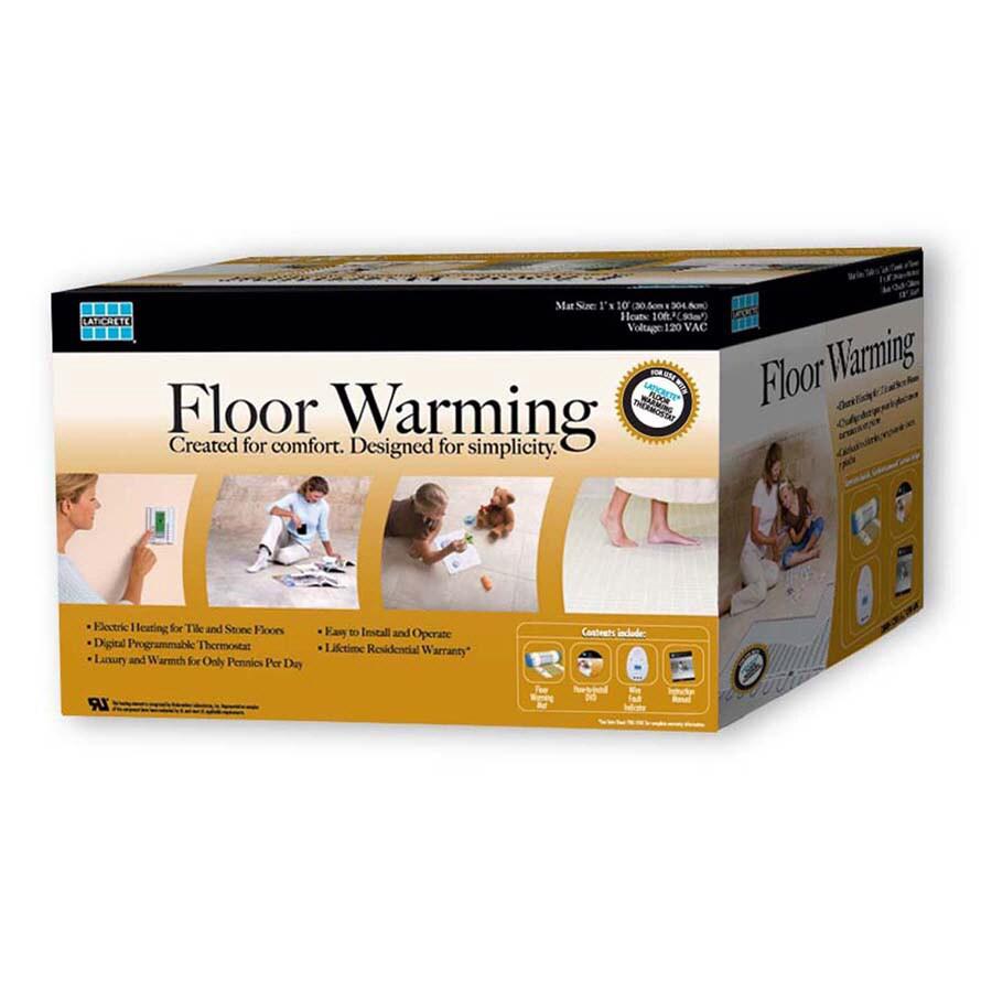 LATICRETE 120-Volt 1 x 10 Floor Warming Mat