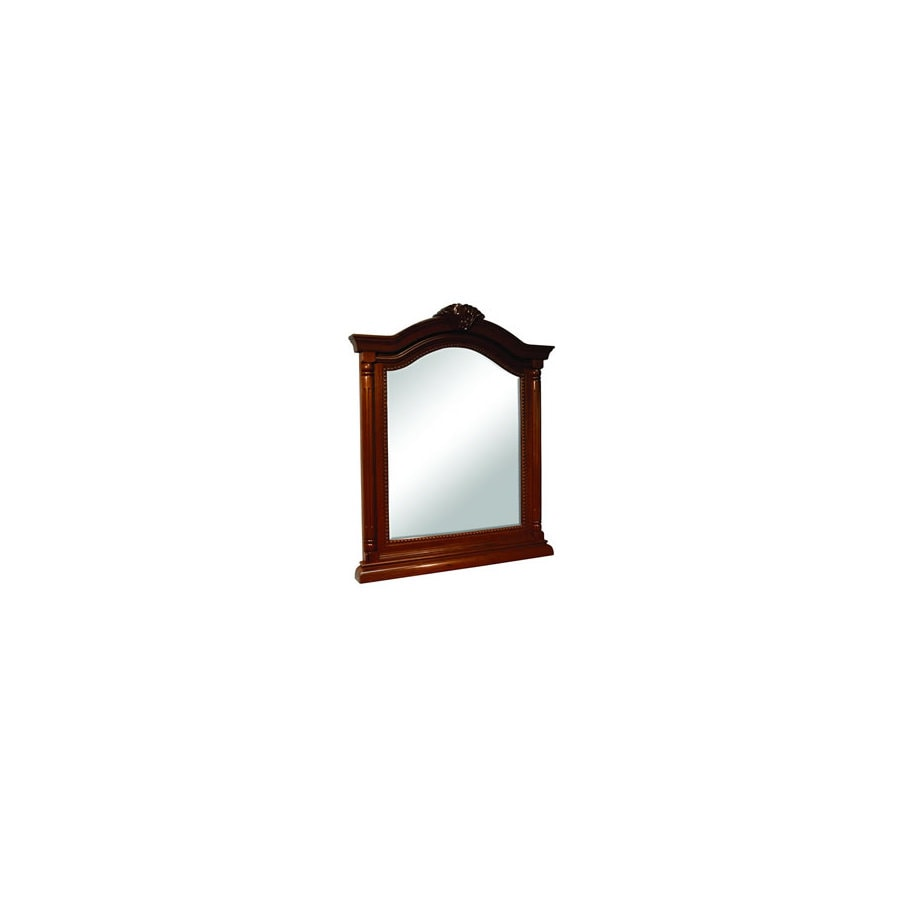 Foremost Wingate 26-in W x 36.25-in H Cherry Arch Bathroom Mirror