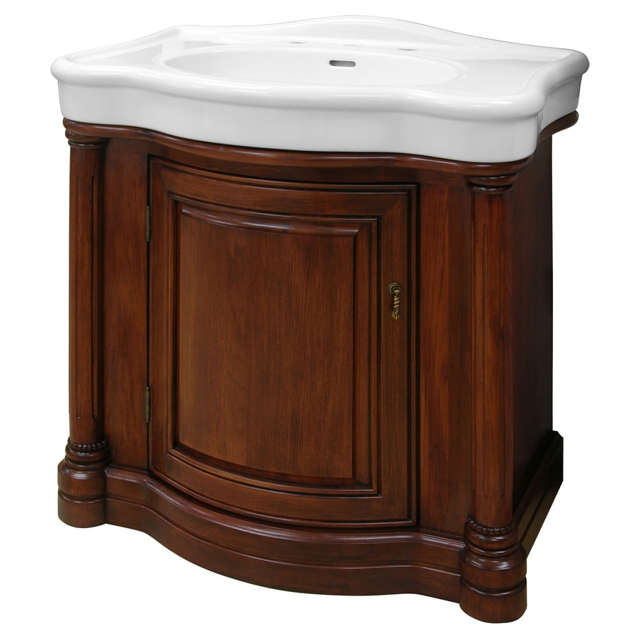Foremost Wingate Cherry 31 875 in Integral Single Sink Cherry Bathroom  Vanity with Vitreous China Top. Shop Foremost Wingate Cherry 31 875 in Integral Single Sink Cherry