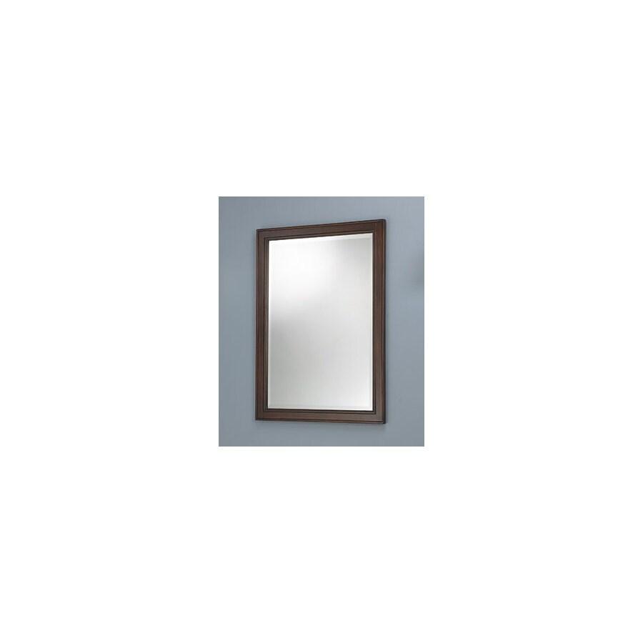 Foremost Hawthorne 23.75-in W x 32-in H Dark Walnut Rectangular Bathroom Mirror