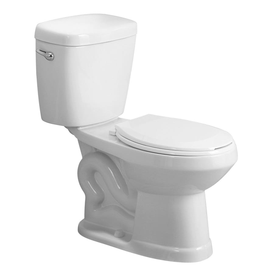 AquaSource All-In-One 1.28-GPF (4.85-LPF) White WaterSense Standard Height 2-Piece Toilet