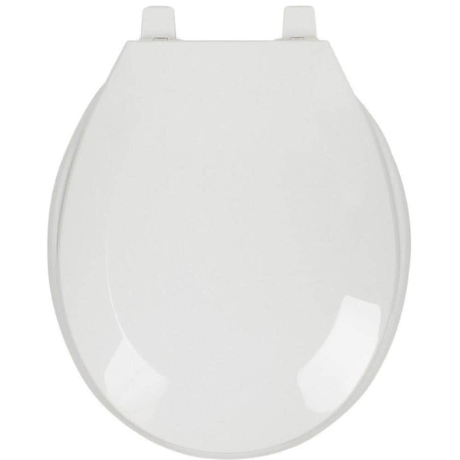 Shop Aquasource Plastic Round Toilet Seat At Lowes Com