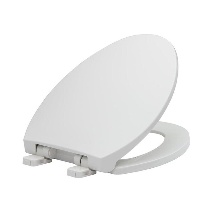 White Elongated Slow Close Toilet Seat