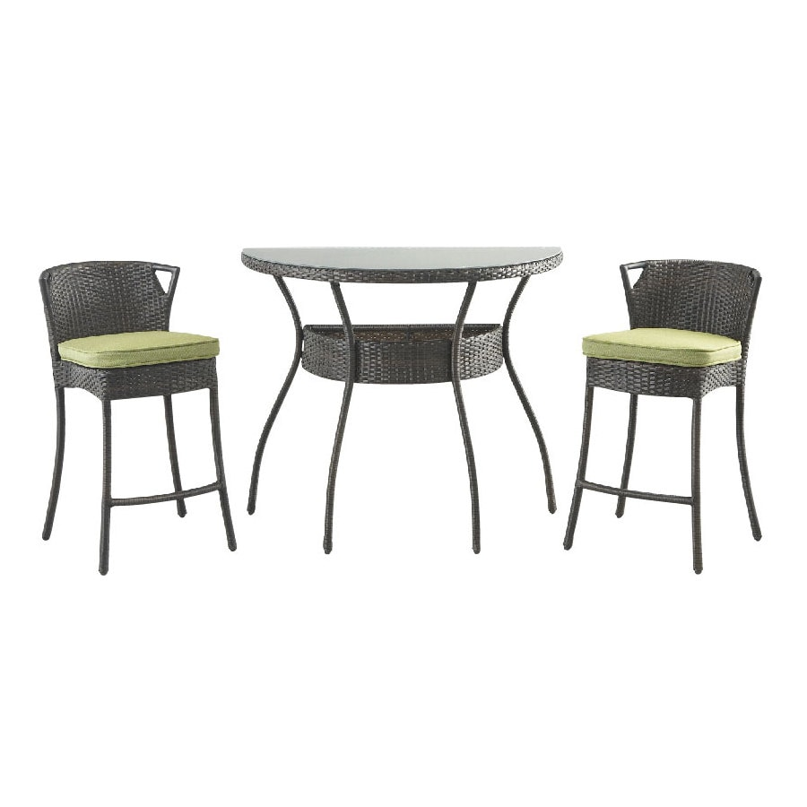 shop foremost casual 3 piece glass patio dining set at