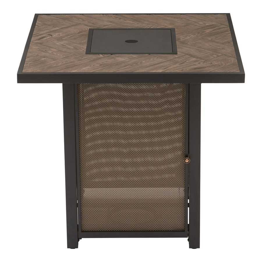 Shop Allen Roth 38 In W 40000 Btu Brown Tabletop Steel