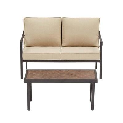 Strange Allen Roth Northvale 2 Piece Aluminum Frame Patio Andrewgaddart Wooden Chair Designs For Living Room Andrewgaddartcom