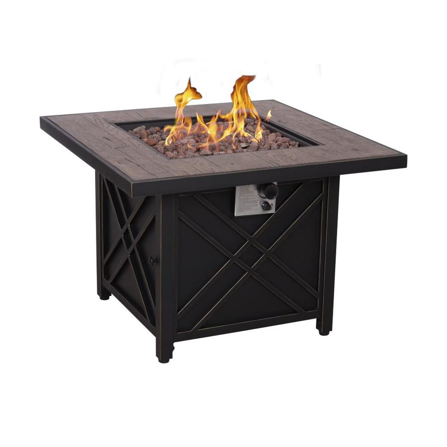 Foremost 34 5 in w 50000 btu black steel propane gas fire table