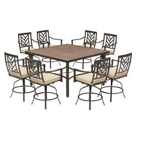 Incredible Hanover Montclair 3 Piece Brown Metal Frame Bar Height Patio Home Interior And Landscaping Ologienasavecom