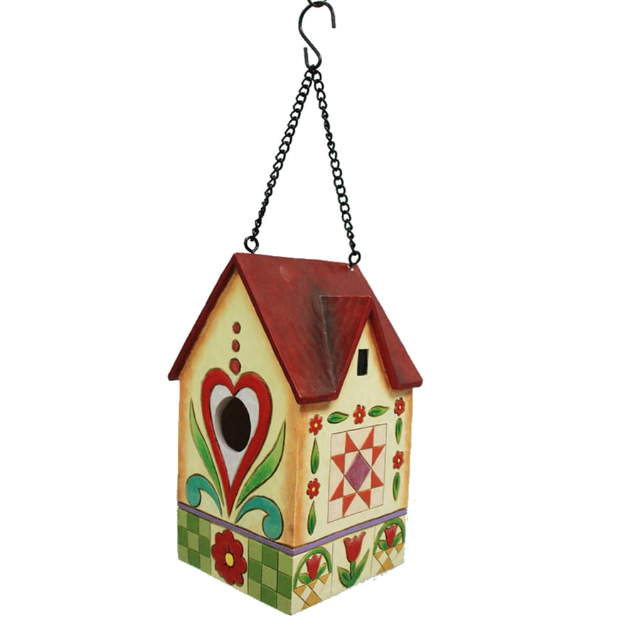 Jim Shore 4.5-in W x 7.75-in H x 4.625-in D Multicolor Bird House