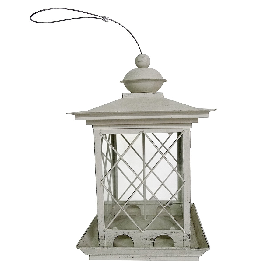shop garden treasures metal hopper bird feeder at lowescom With kitchen cabinets lowes with outdoor metal bird wall art