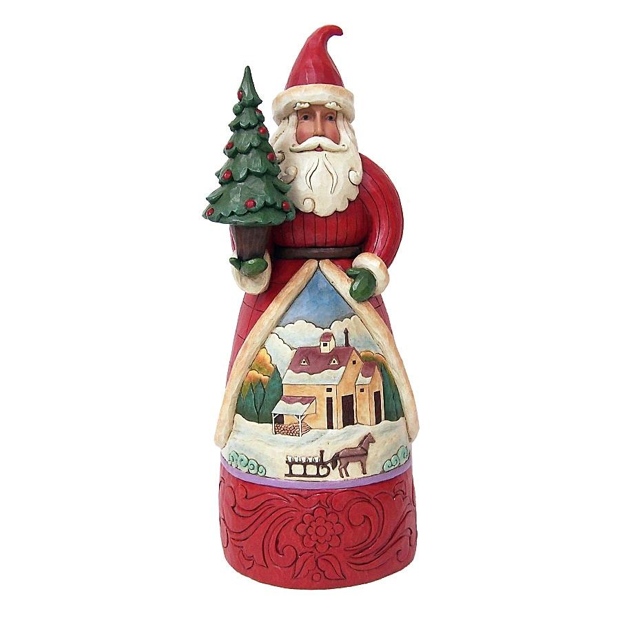 Shop jim shore santa indoor christmas decoration at for Christmas decoration items list