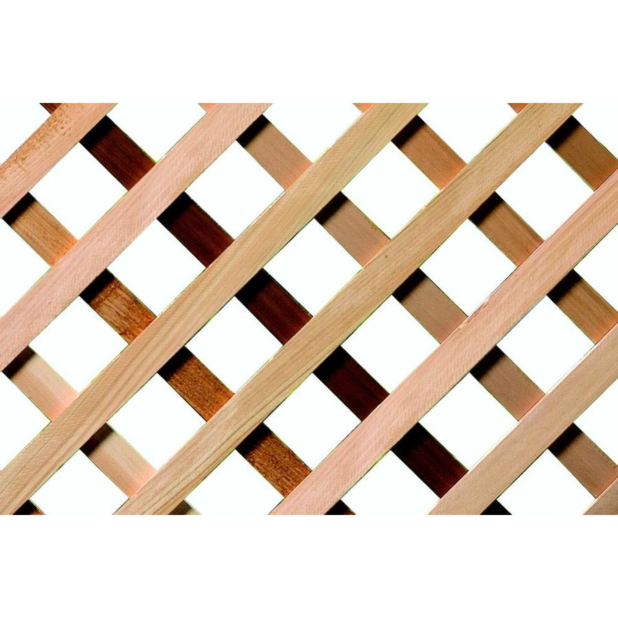 Severe Weather (Common: 1/2-in x 48-in x 8-ft; Actual: 0.4-in x 48-in x 8-ft) Natural Western Cedar Traditional Lattice
