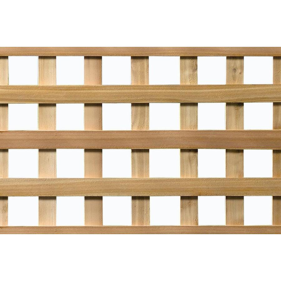 Severe Weather (Common: 1-in x 48-in x 8-ft; Actual: 0.8-in x 48-in x 8-ft) Natural Western Cedar Square Lattice