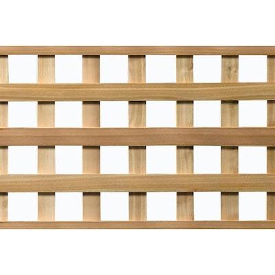 4' x 8' Cedar Select Heavy Duty Garden Square Lattice at