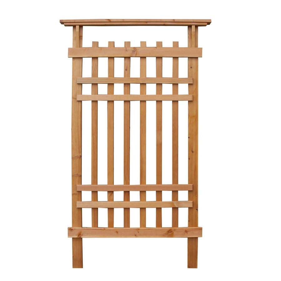 Shop Garden Architecture 36 in W x 61 in H Stained Garden Trellis at