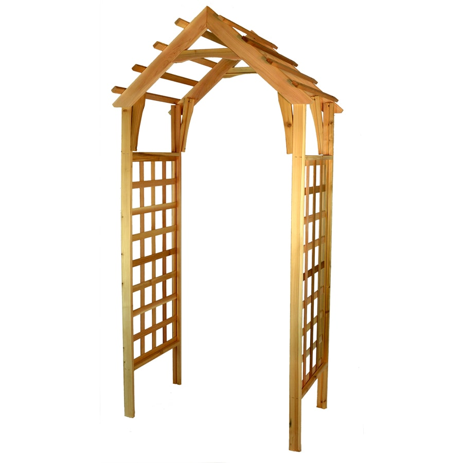 Shop Garden Architecture 3.7-ft W x 7.4-ft H Natural Cedar Garden ...