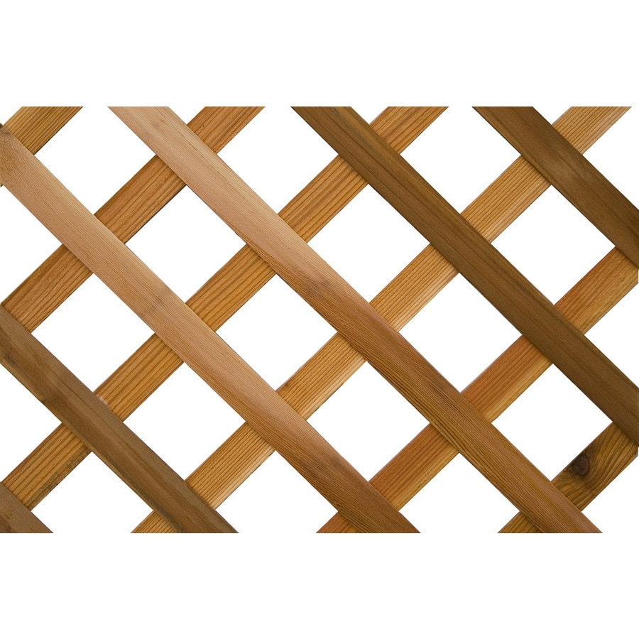 Wood Cedar Traditional Lattice (Actual: 0.375-in)