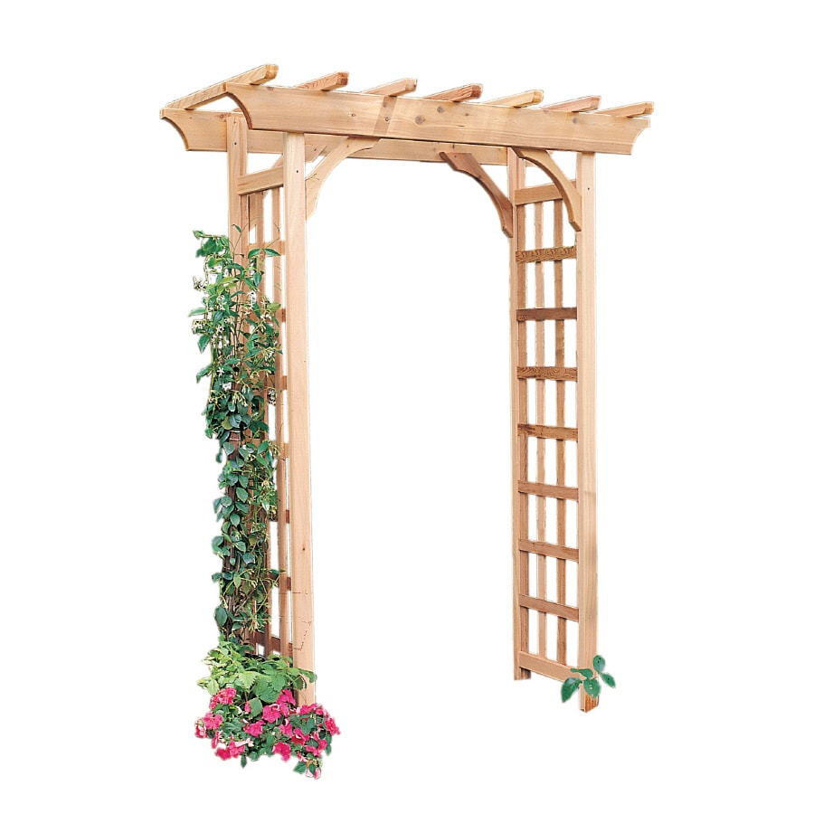 Garden Architecture 5.3-ft W x 7-ft H Natural Garden Arbor