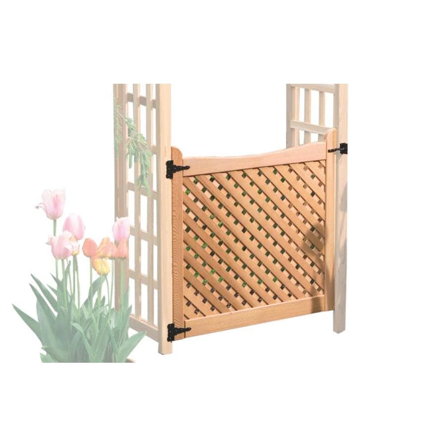Shop Garden Architecture Natural Wood Gate at Lowescom