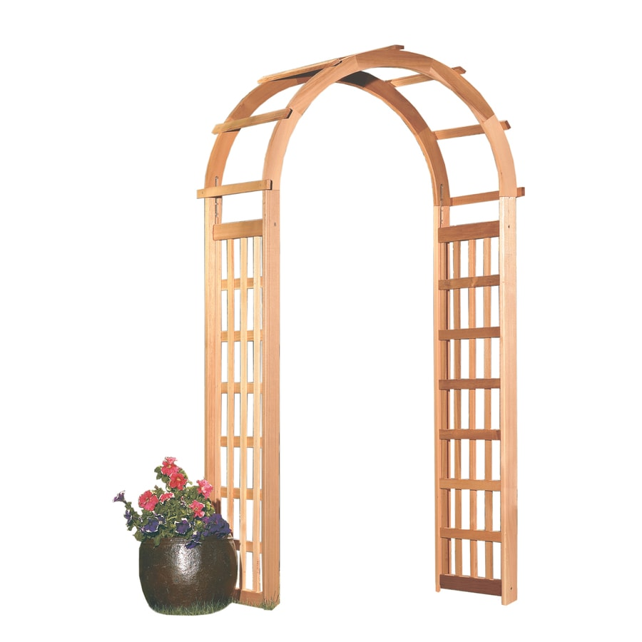 Garden Architecture 3.4-ft W x 7.2-ft H Natural Garden Arbor