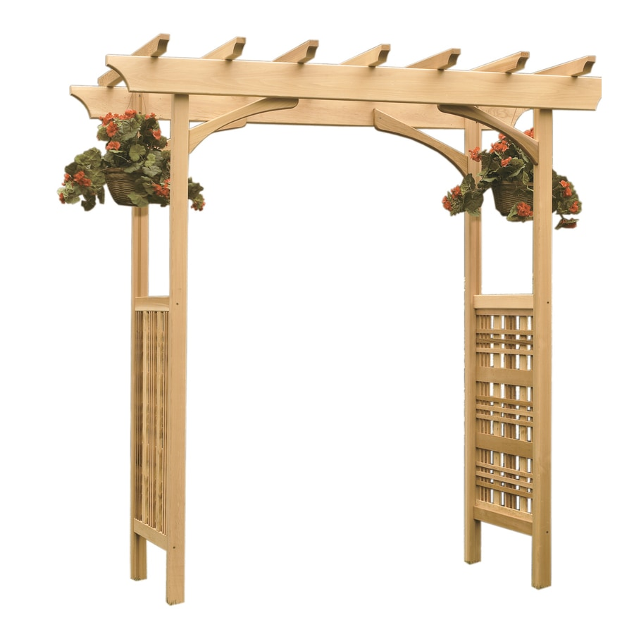 Garden Architecture 6.8-ft W x 7.3-ft H Natural Garden Arbor