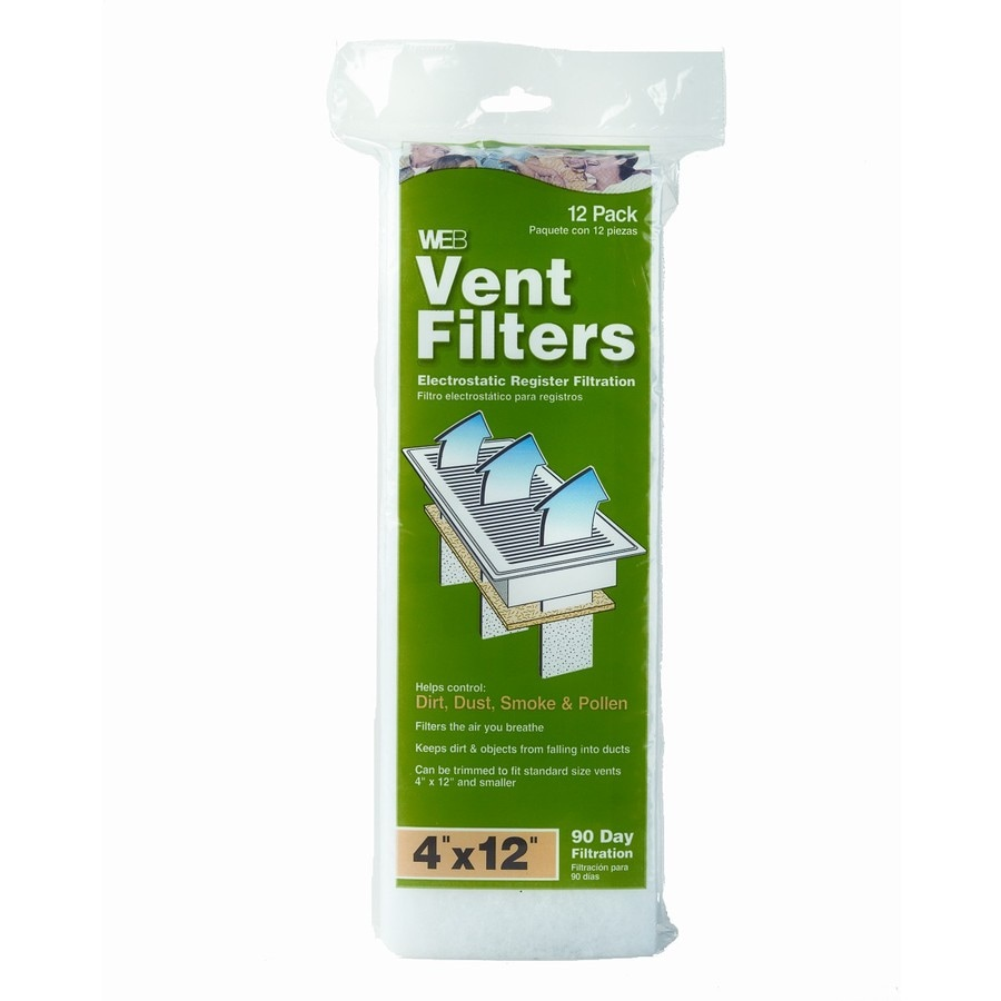 WEB 12-Pack Green and White Bag Register Vent Filter