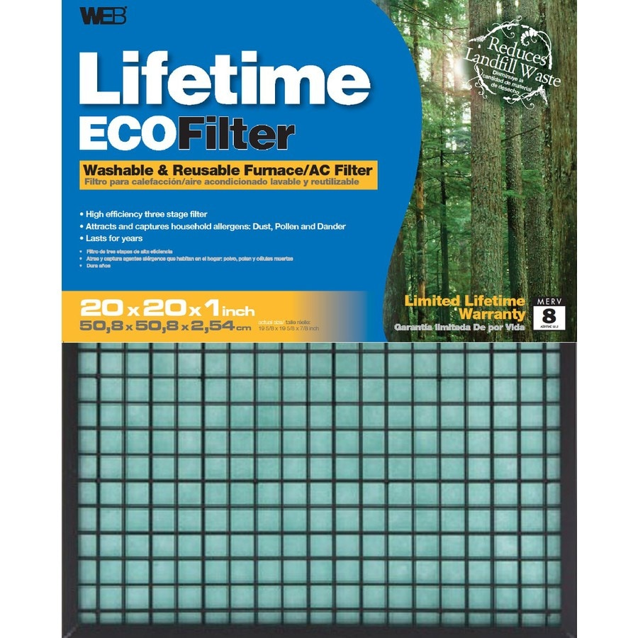 Shop Web Furnace Ac Filter Common 20 In X 20 In X 1 In