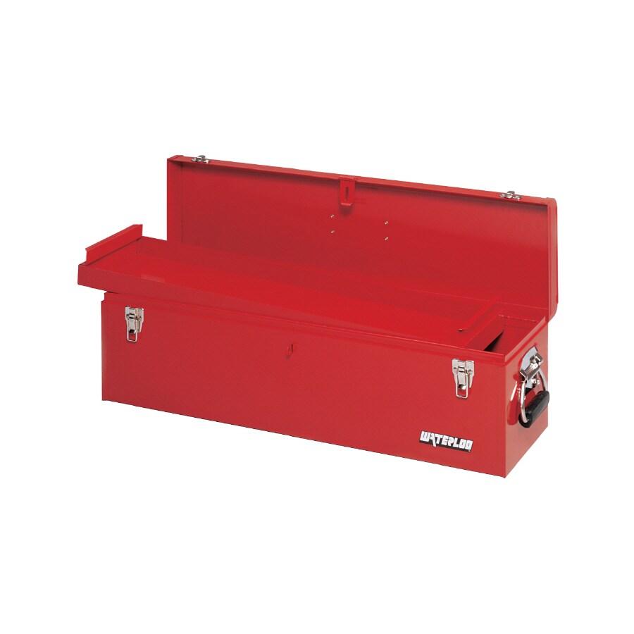 shop waterloo 30-1/8-in red steel tool box at lowes
