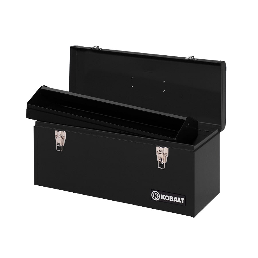 Kobalt 9.5-in Steel Lockable Tool Box