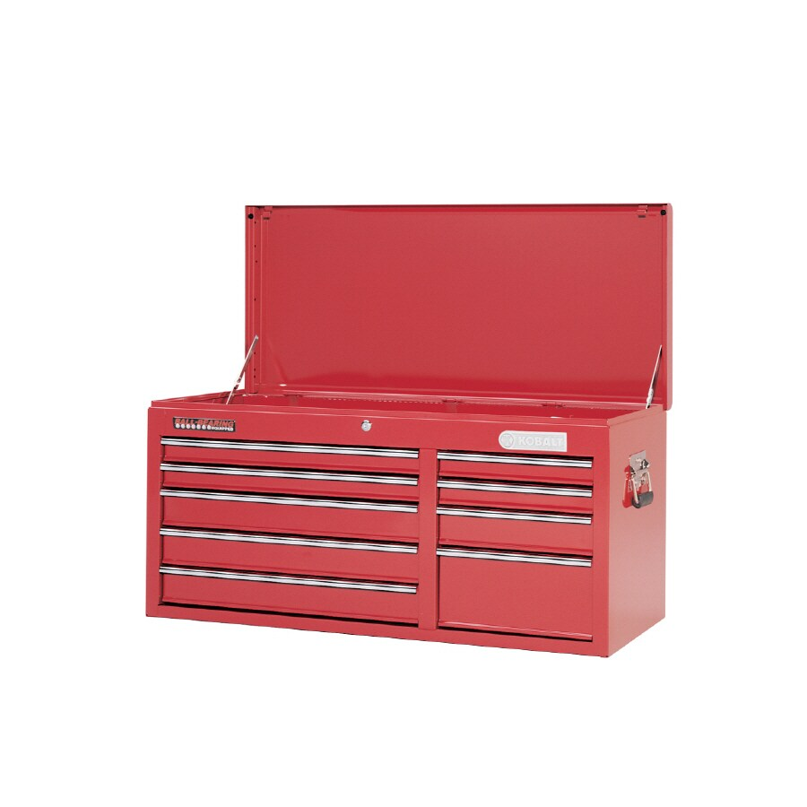 Kobalt 23.25-in x 18.938-in 9-Drawer Ball-Bearing Steel Tool Chest (Red)