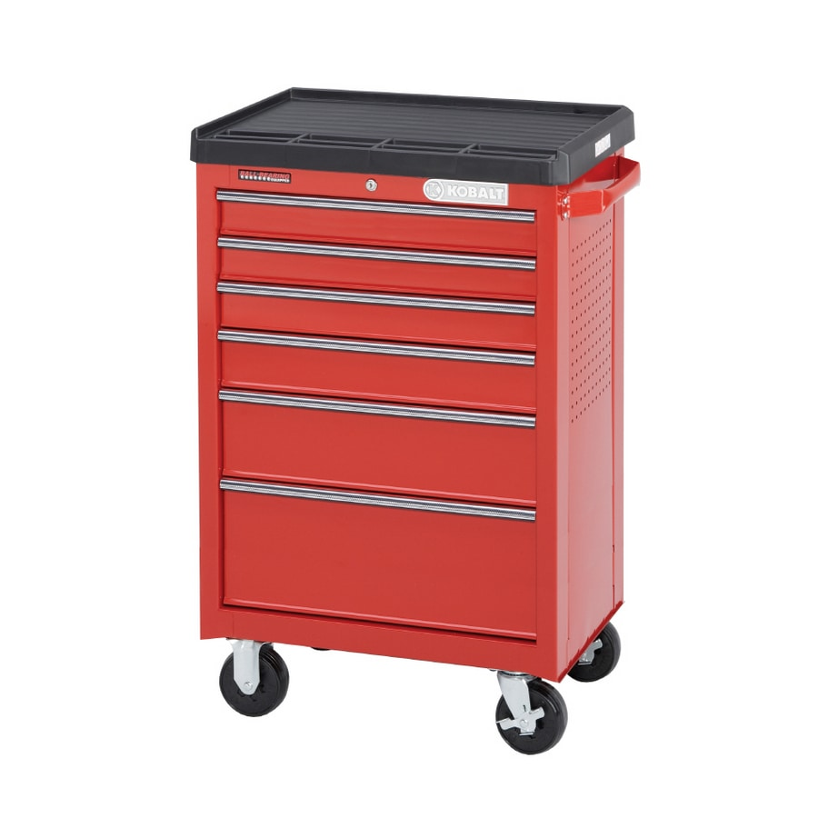 Kobalt 6-Drawer 28-1/8-in Steel Tool Cabinet (Red)