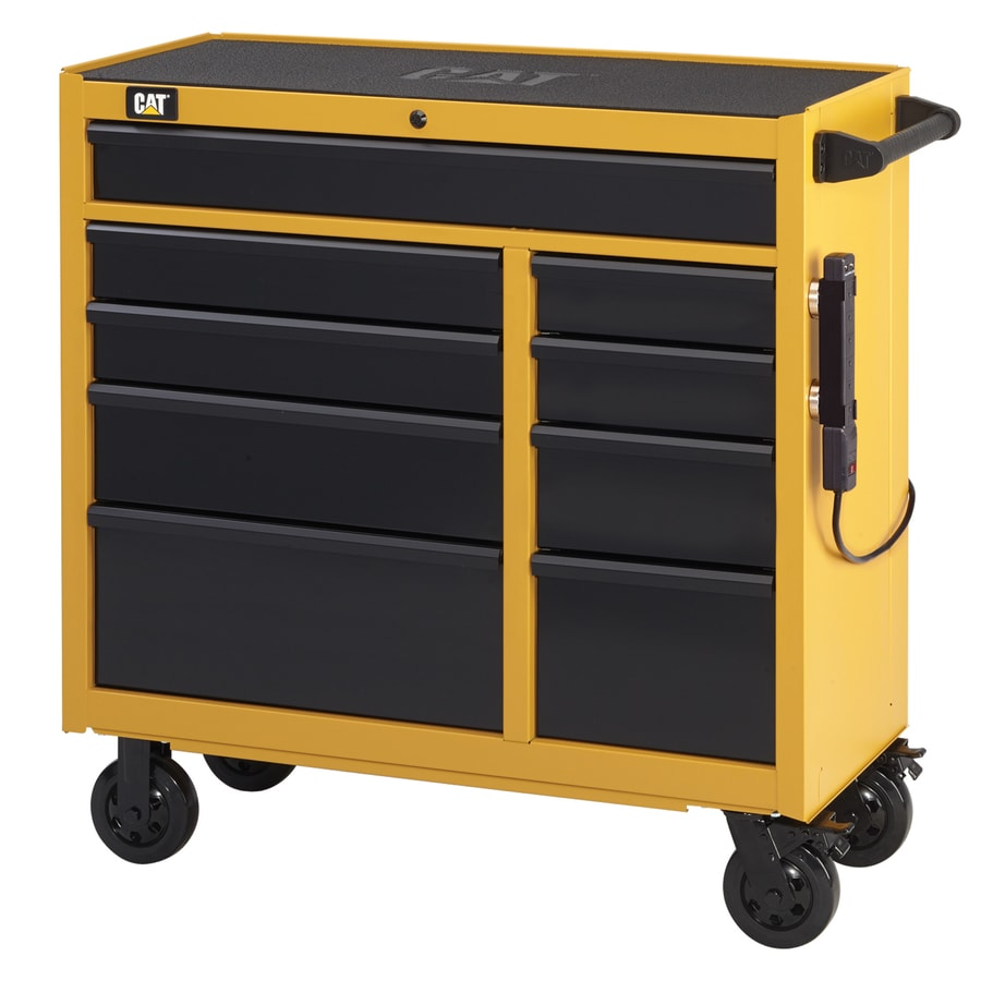 Cat 42.25-in x 41-in 9-Drawer Ball-Bearing Steel Tool Cabinet (Yellow)