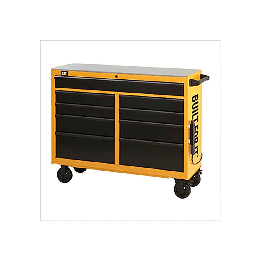 Cat 42.25-in x 52-in 9-Drawer Ball-Bearing Steel Tool Cabinet (Yellow)