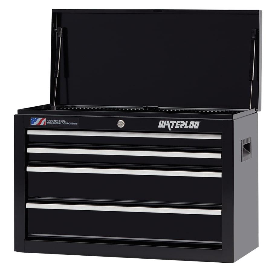 Waterloo 17.25-in x 26-in 4-Drawer Ball-Bearing Steel Tool Chest (Black)