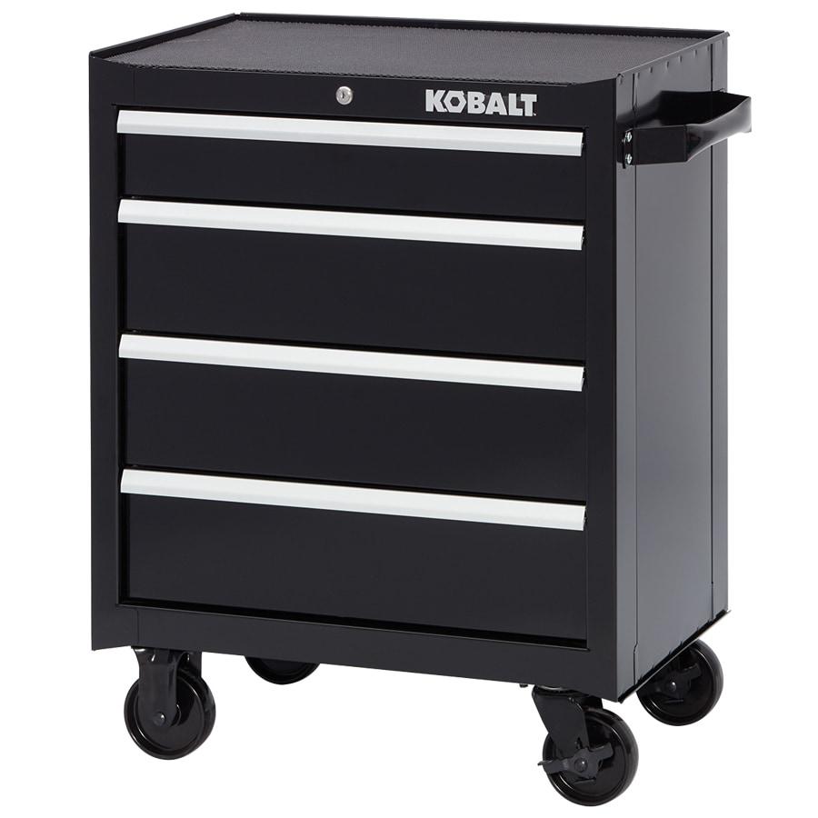 Shop Kobalt 34-in x 26.5-in 4-Drawer Ball-Bearing Steel Tool ...