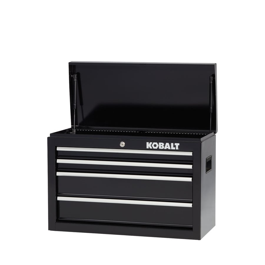 Kobalt 1000 Series 17.25-in x 26-in 4-Drawer Ball-Bearing Steel Tool Chest (Black)