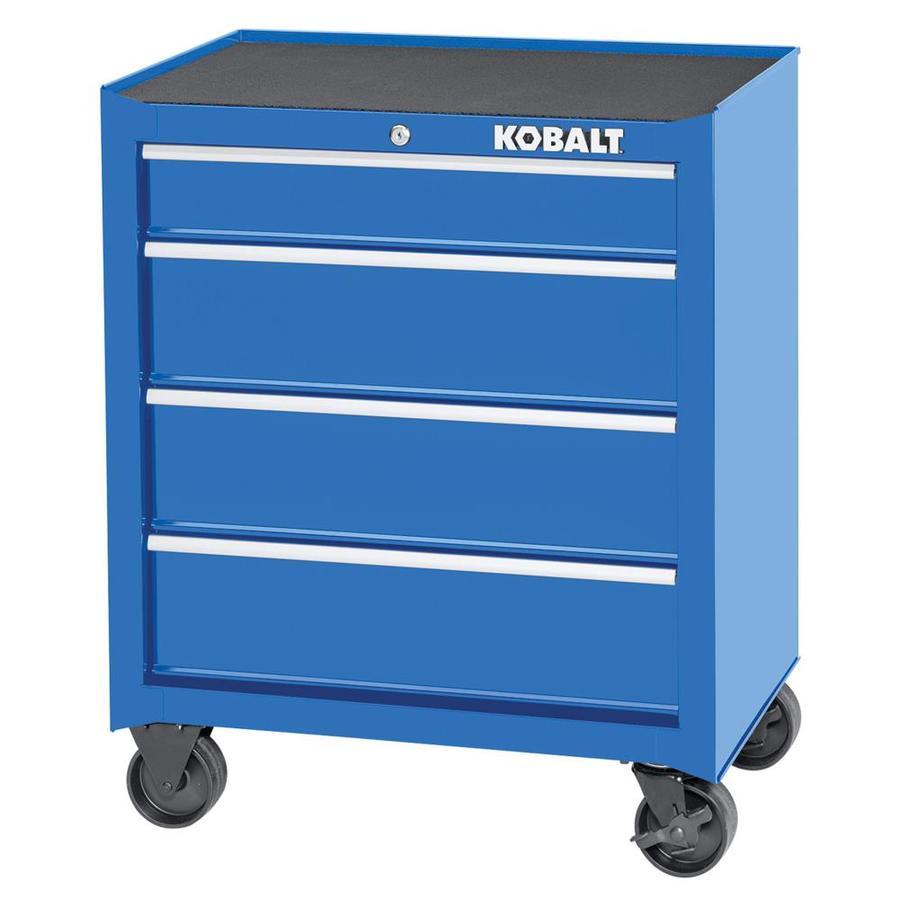 Kobalt 1000 Series 32.5-in x 26.5-in 4-Drawer Ball-bearing Steel Tool Cabinet (Blue)