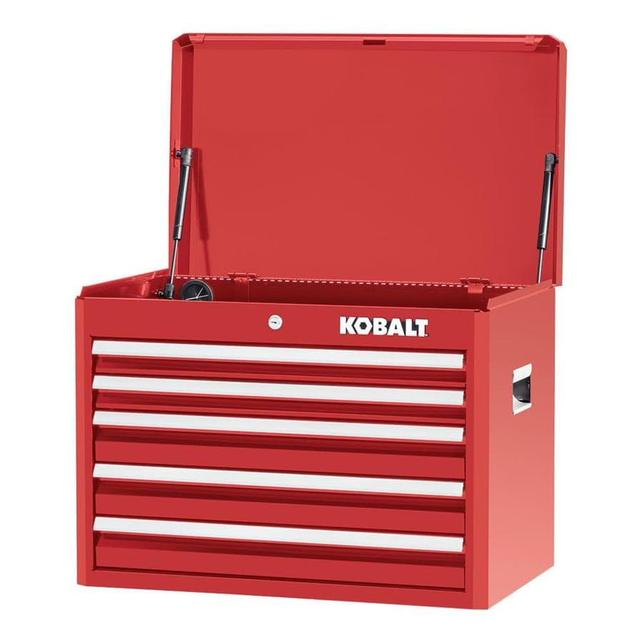 Kobalt 2000 Series 19.75-in x 26-in 5-Drawer Ball-bearing Steel Tool Chest (Red)