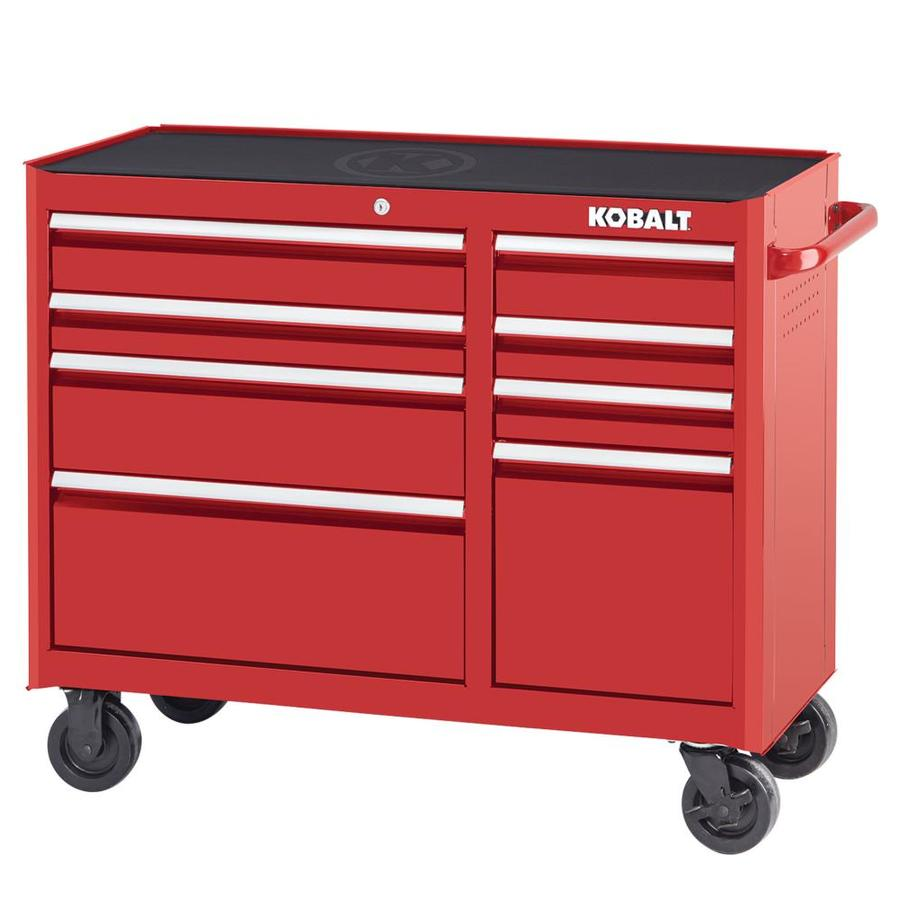 x double in tool bank roller red cabinet
