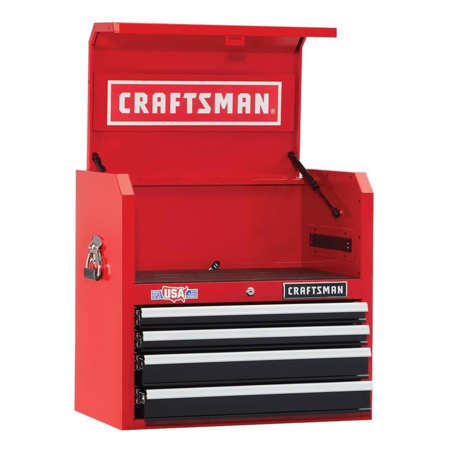 Shop CRAFTSMAN HeavyDuty 26in W x 245in H 4Drawer Ballbearing